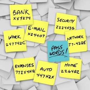 A proliferation of passwords