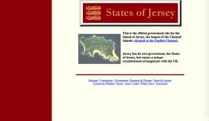 Screenshot of Gov.je in 1997