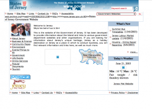 Screenshot of Gov.je in 2003