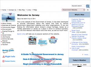 Screenshot of Gov.je in 2006