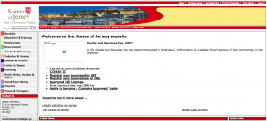 Screenshot of Gov.je in 2007