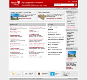Screenshot of Gov.je in 2014