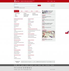 Screenshot of Gov.je in 2017